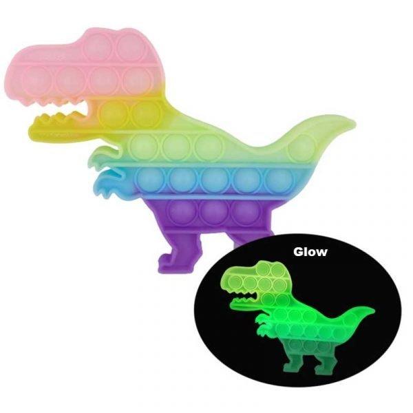 dinosour pop it glow