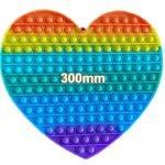 Rainbow 300mm Heart