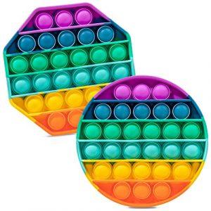 rainbow pop it fidget toy