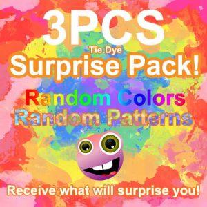 tie dye pop it fidget toy pack