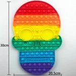 Rainbow 300mm Skull